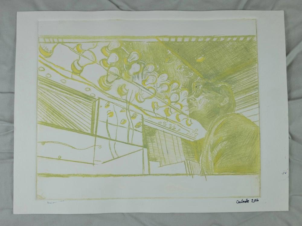 "(Guilmette 2016), 9 x 12"", drypoint print"
