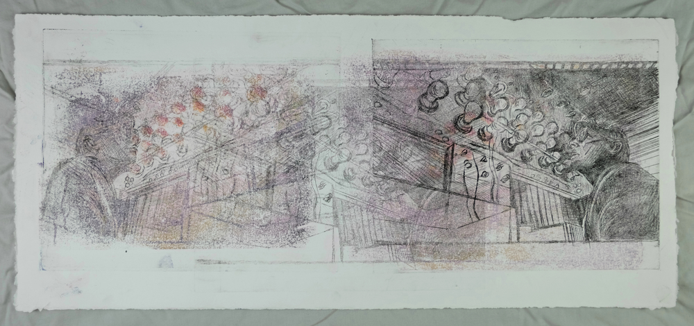 "(Guilmette 2016), 10 x 22"", photo transfer and drypoint print"