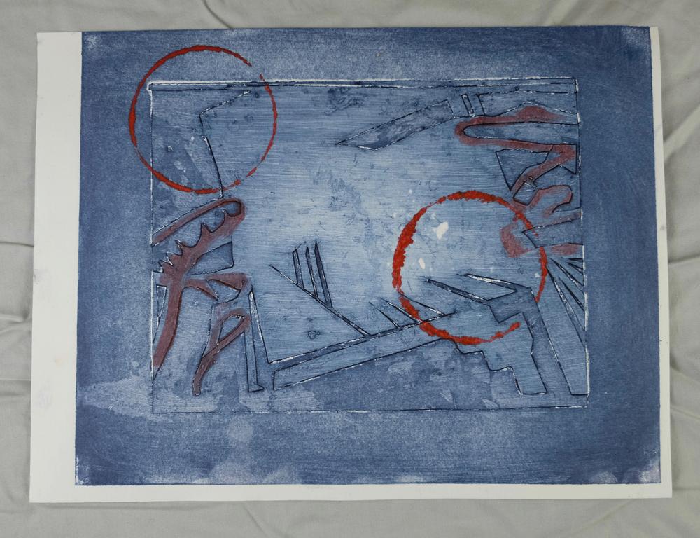 "(Guilmette 2016), 8 x 10"", collograph print"