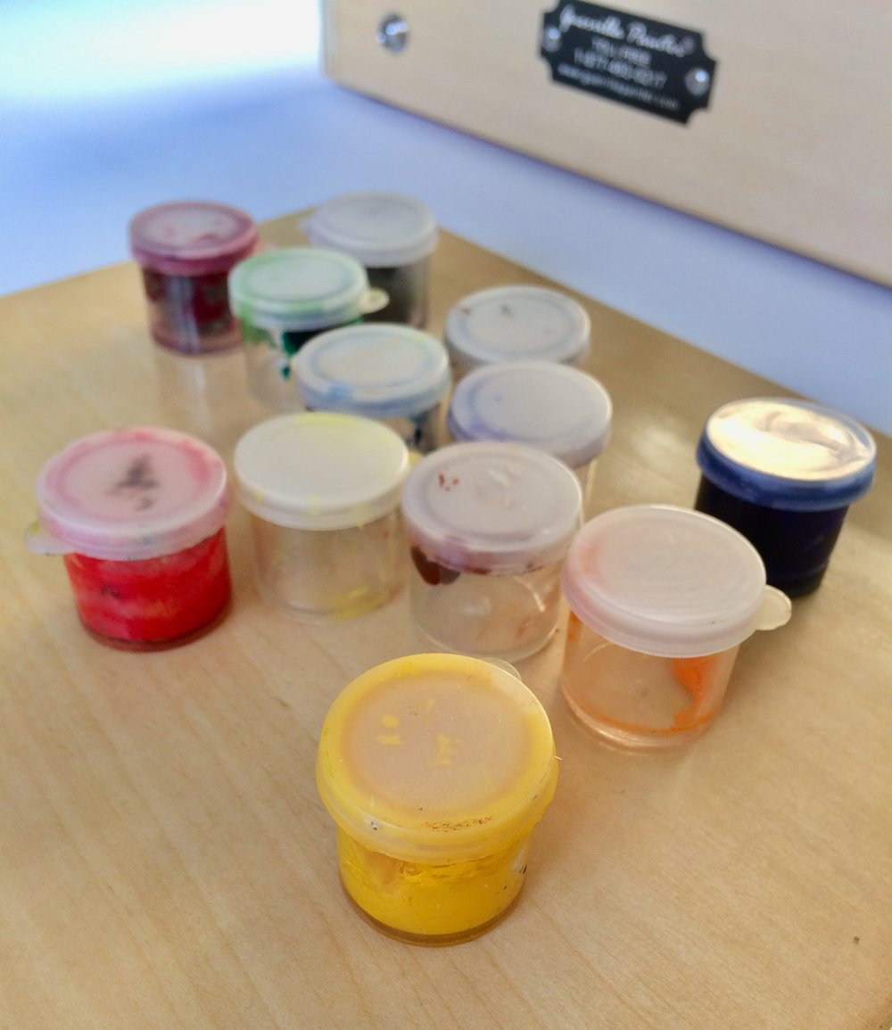 My small paint containers