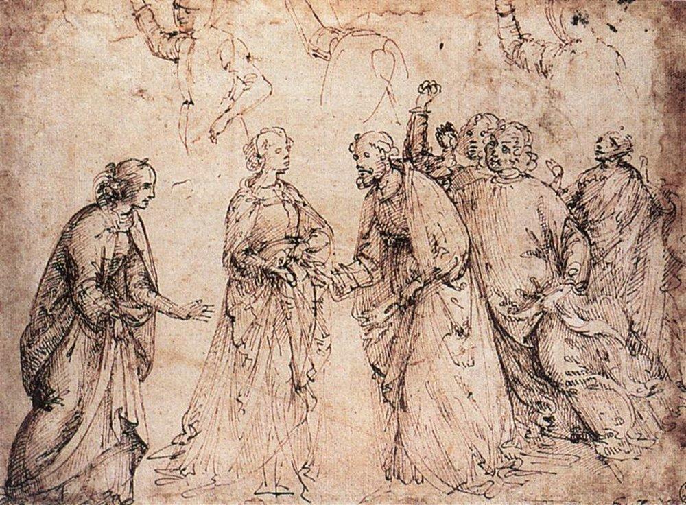 The Marriage of the Virgin, Domenico Ghirlandaio
