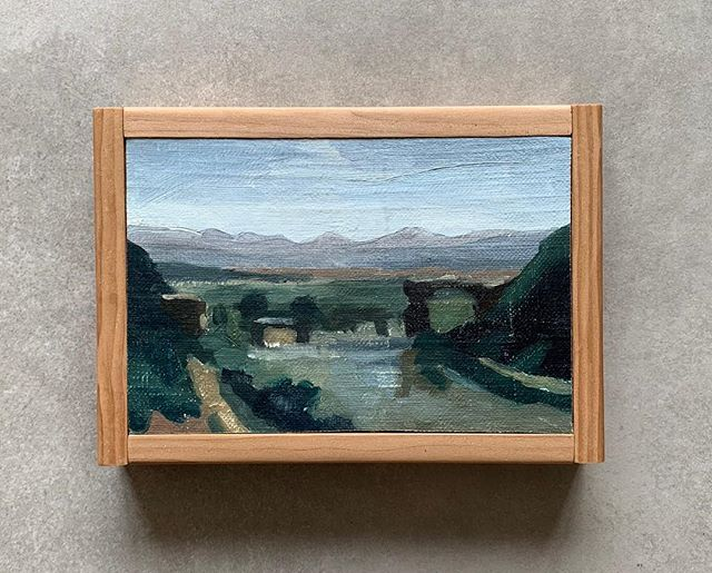 I am happy to say that I will be releasing some framed Vermeer and Corot studies next week on my website! Keep your eyes peeled next week 👀 ⠀ .⠀ .⠀ Pictured above is a study of Corot's Bridge at Narni- one of the pieces that will be available.
