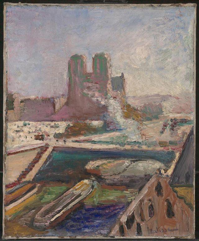 NOTRE DAME! 🙏 . Henri Matisse c. 1900 #notredame #oilpainting