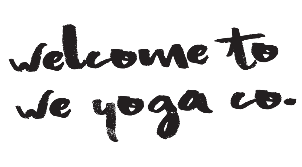 welcome to we yoga co.