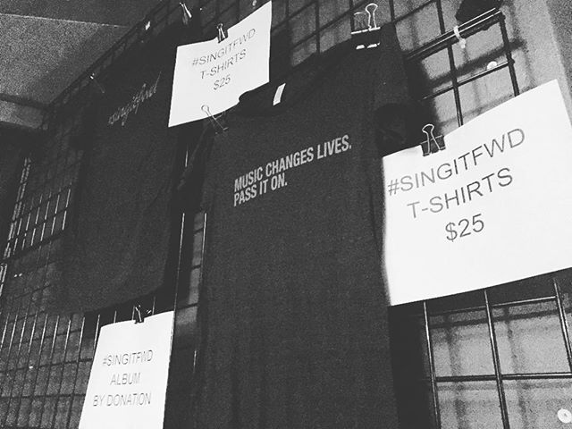 Music changes lives. Pass it on.  Don't forget to get you #singitfwdfinale t-shirt for $25. Only a few left #limitededition