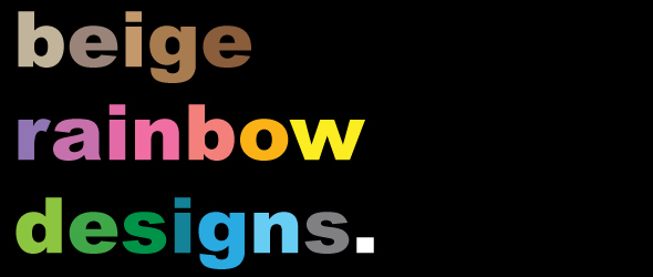 Beige Rainbow Designs
