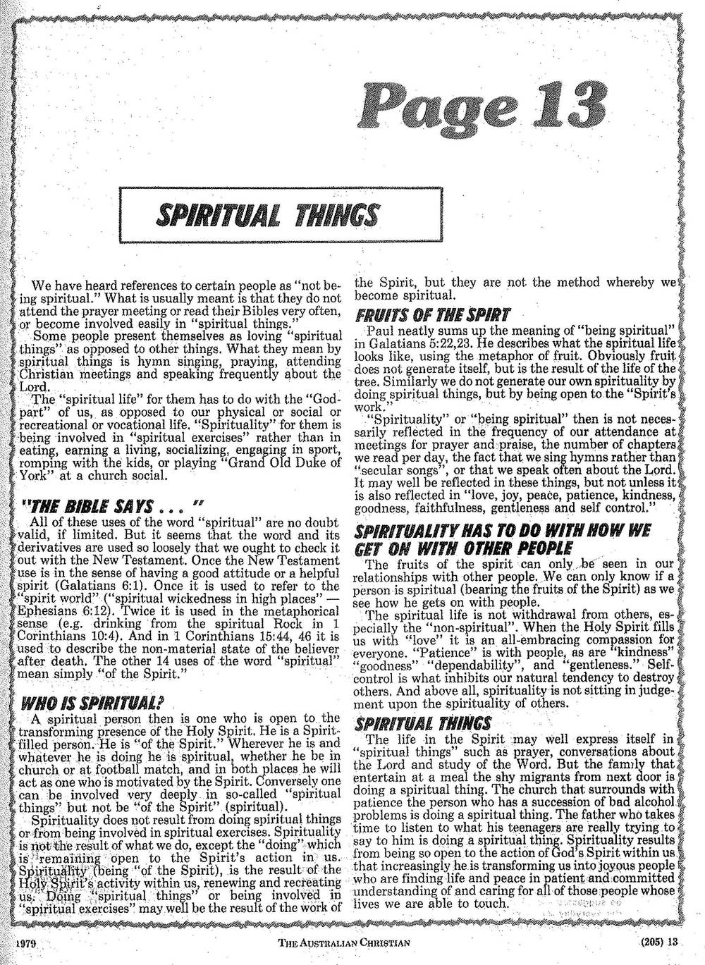 The first Page 13 from 1979