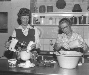 Kitchen preparations, 1981
