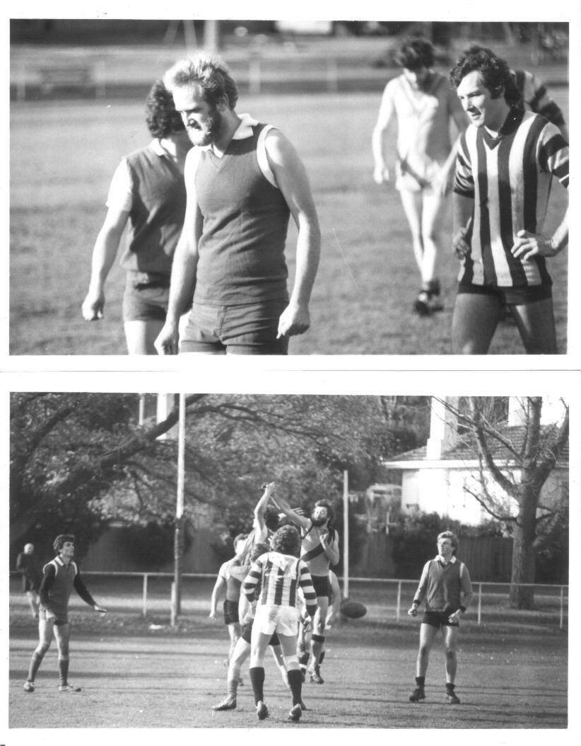 Students vs Ministers football, 1983
