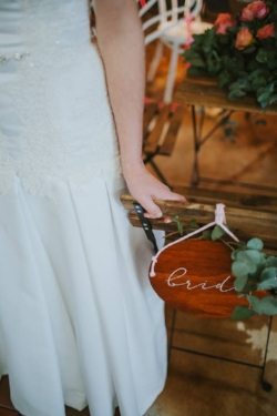 Bride and Groom Chair Signs  $15.00