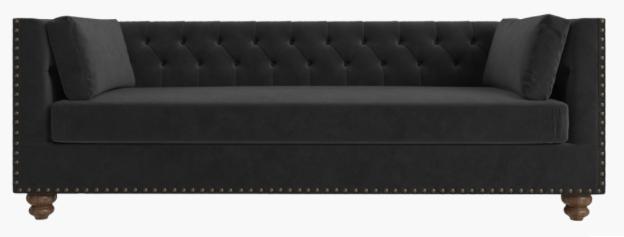 Black Chesterfield Velvet Sofa $375
