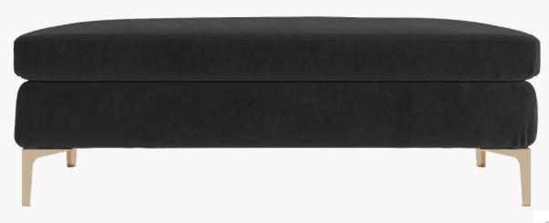 Black Velvet Ottoman $110