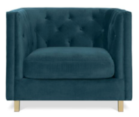 Teal Chesterfield Velvet Armchair $150