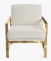 Luxe Brass Armchair $150