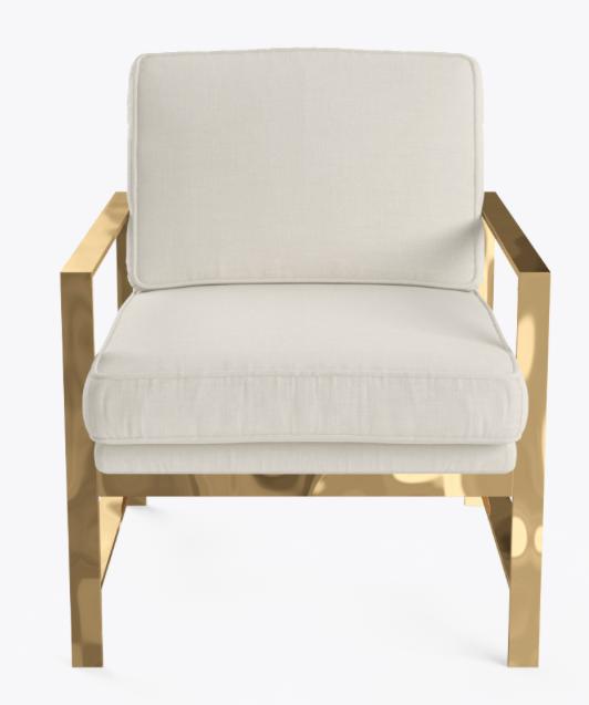 Luxe Brass Armchair $160