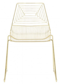 NEW Gold Geo Wire Chair 100 available  $12.00