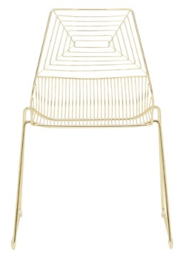 Gold Geo Chair $13.00
