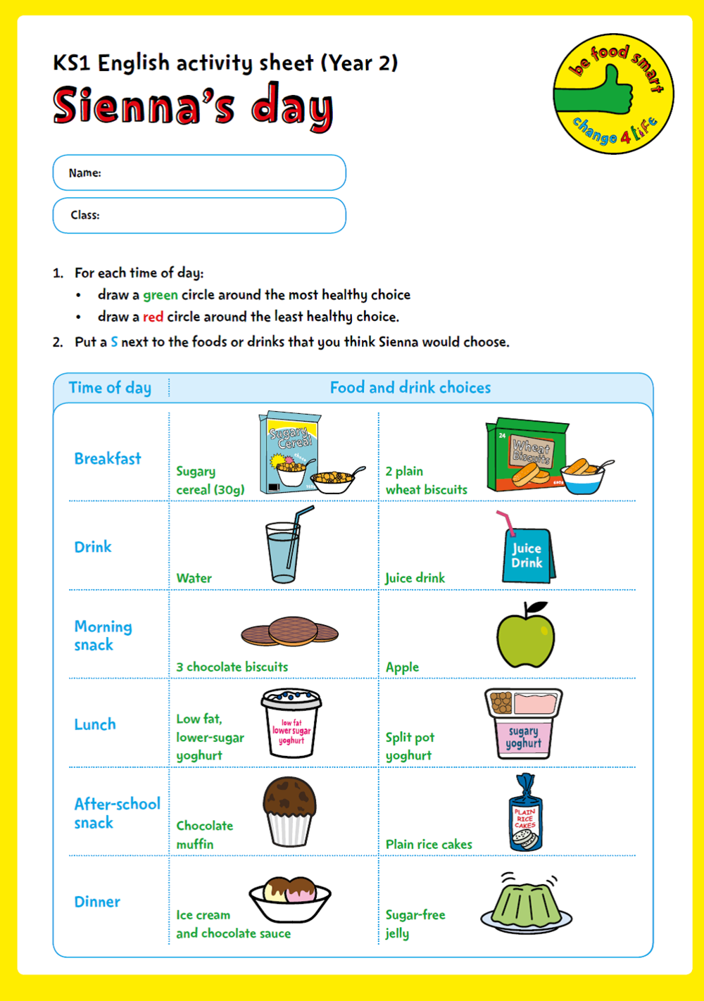 C4L - BFS - YR2 Activity Sheets