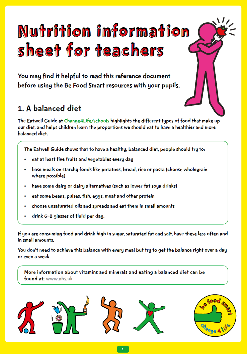 C4L - BFS - KS2 Nutrition Teacher Sheet
