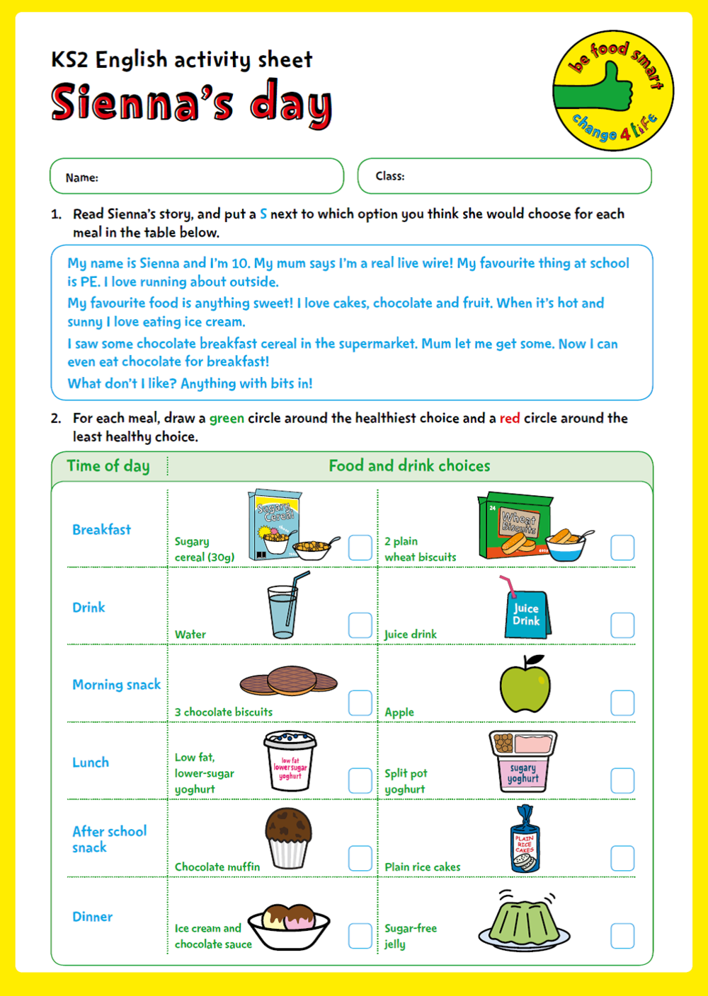 C4L- BFS - KS2 Activity Sheets