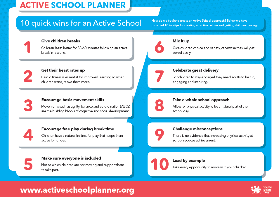 Active School Planner - 10 quick Wins for an Active School
