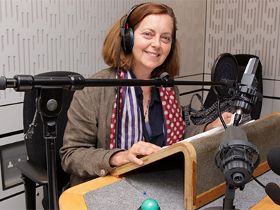 Greta Scacci narrates the radio adaptation of Virginia Baily's Early One Morning. Picture: BBC