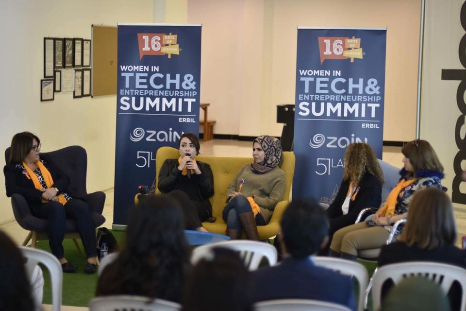 Safa Salwan, IP Operations Engineer, Ericsson, speaking at the Women in Tech Summit