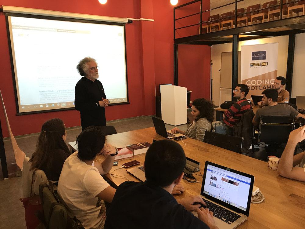 Omer Erkmen speaking to our fellows