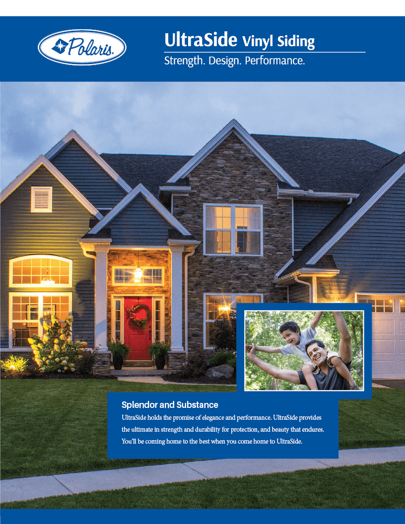Polaris UltraSide Vinyl Siding Brochure Cover