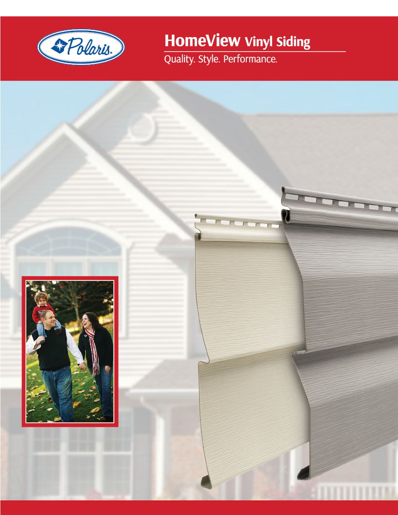 Polaris HomeView Vinyl Siding Brochure Cover