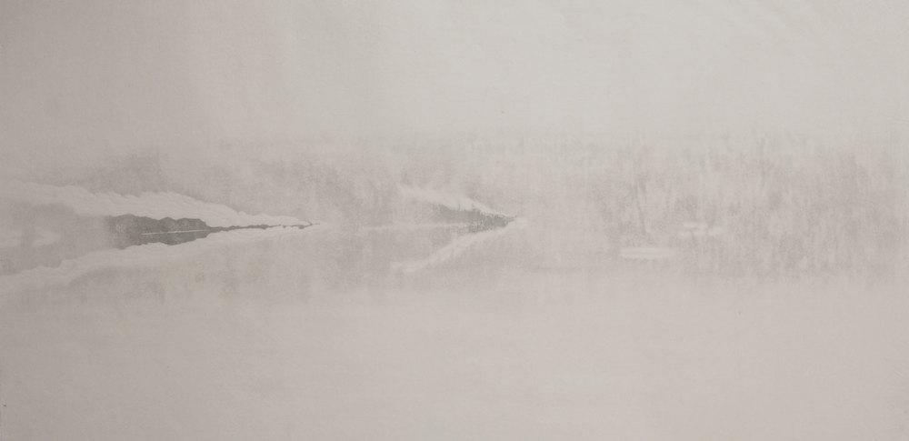 Unfolding Landscape  2015, mokuhanga (Japanese woodblock)