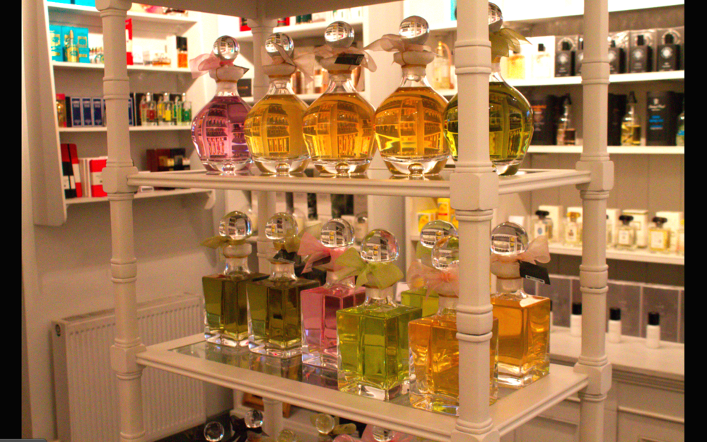 The gorgeous perfumery at Roullier White, East Dulwich
