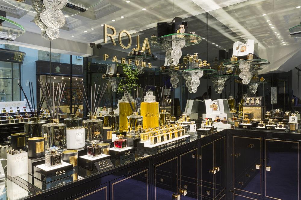 The stunning displays inside Roja Parfums