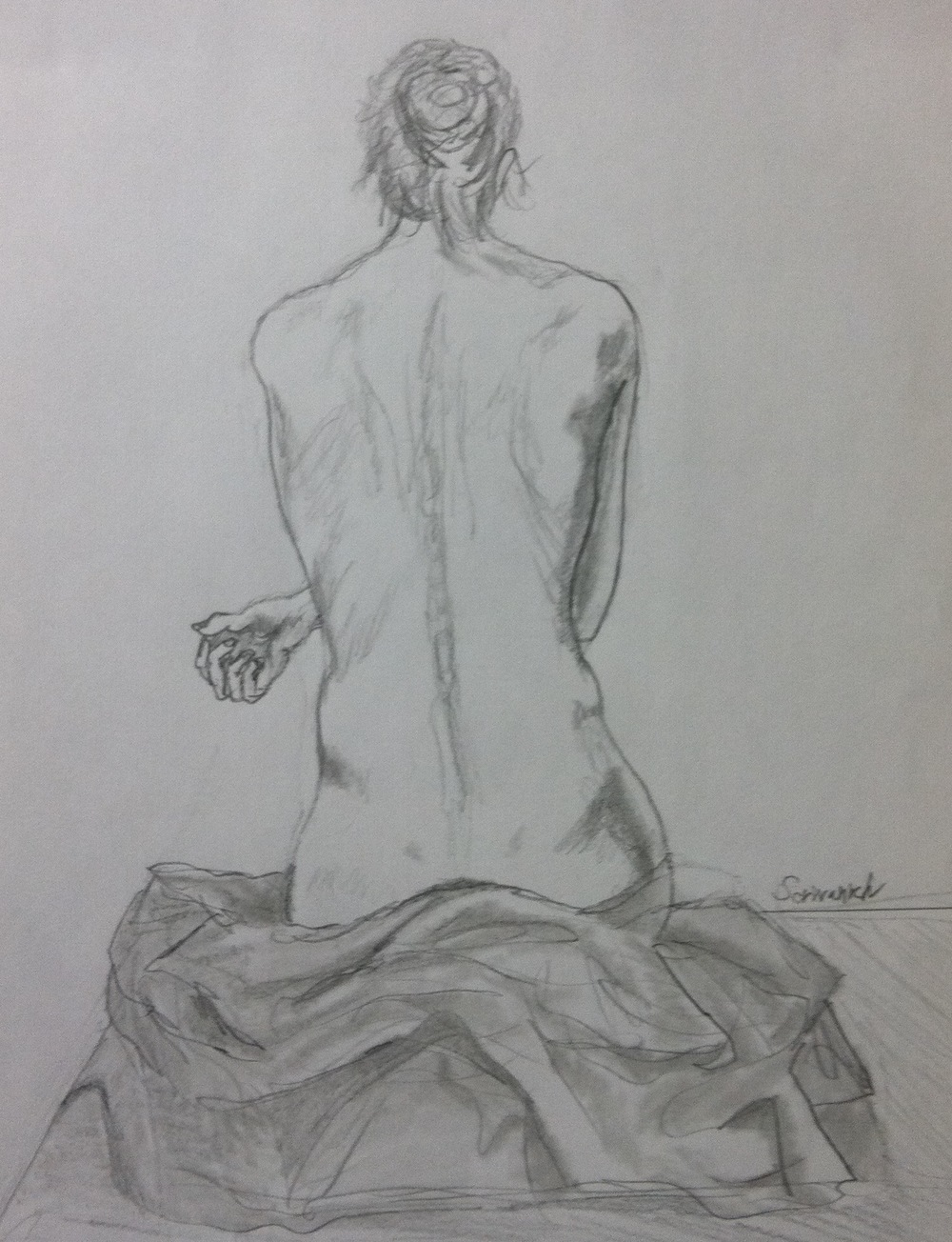 """Only through the study of anatomy may the student become famailiar with all the unfamiliar forms of the body necessary for a successful drawing of the figure.""  -Robert Beverly Hale, ""Master Class in Figure Drawing."""