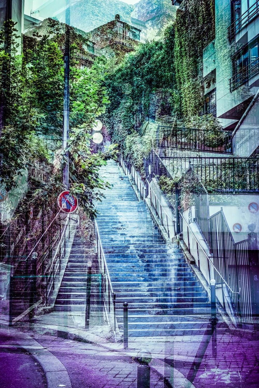 Grand escalier de Belleville