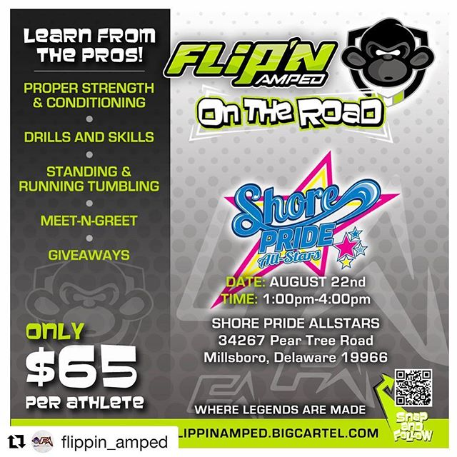 Who's signed up already?? This awesome event is open to everyone!! 💚🎀💙 #FA #flipnamped #shorepridestrong #shoreprideallstars