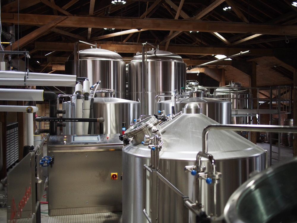 The Spadoni brewing equipment at the heart of the Shawn & Ed Brewing Co.