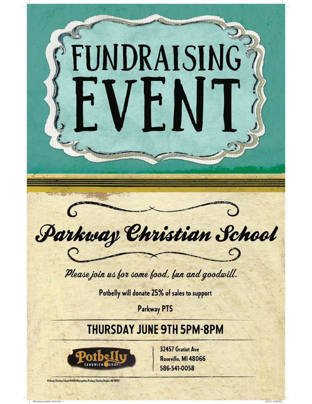 PTS Potbelly Fundraiser