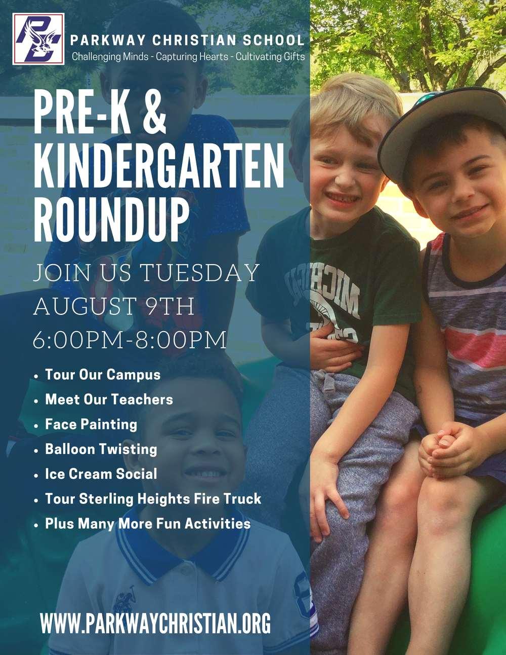 PCS Pre-K & Kindergarten Roundup