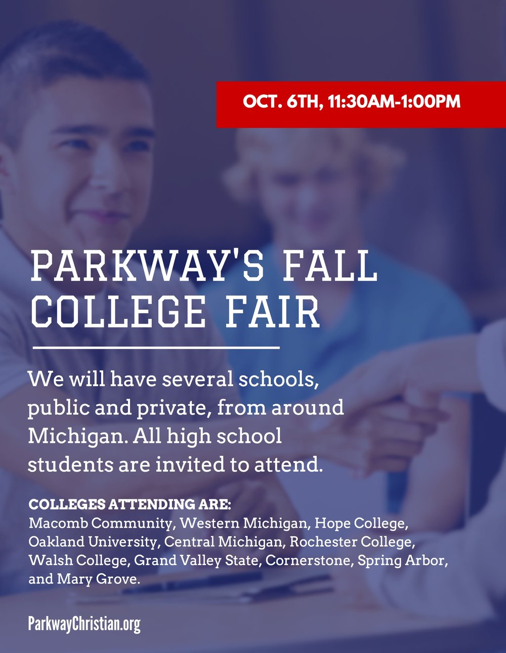 Parkway's Fall College Fair