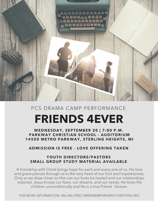 PCS Drama Camp Performance - Friends 4Ever
