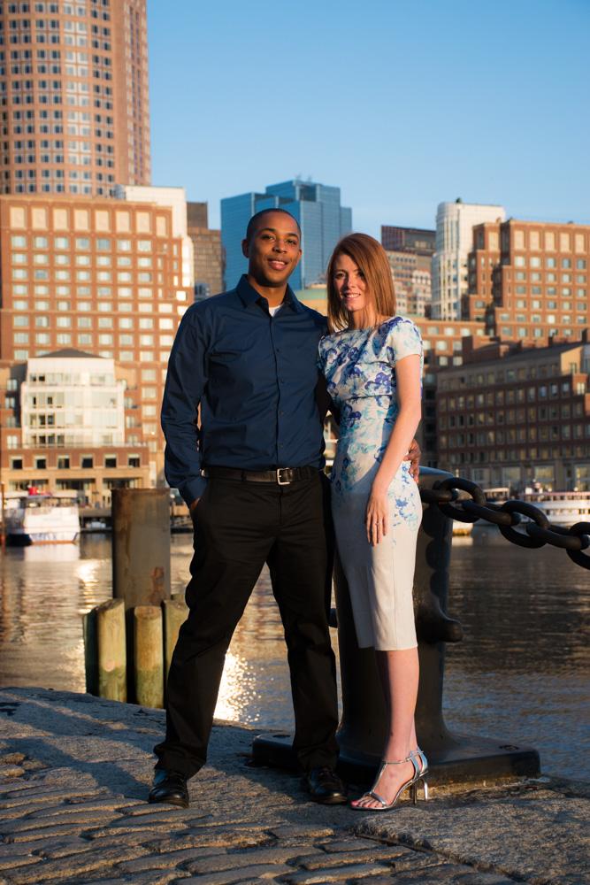 Boston seaport engagement photographs