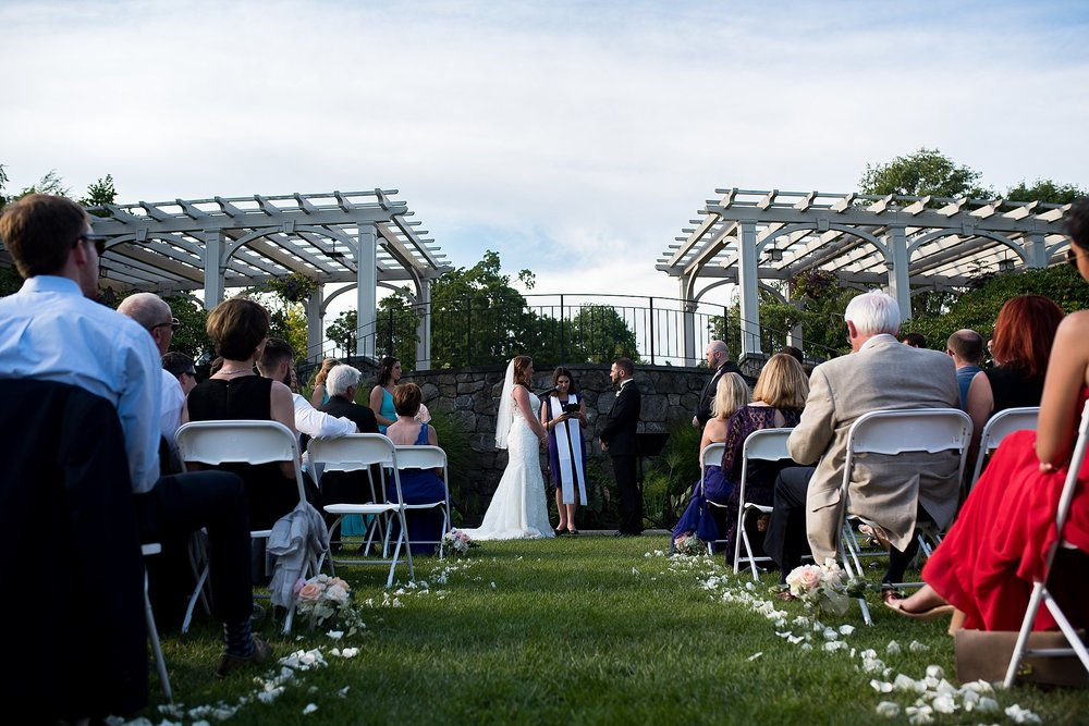 intimate outdoor ceremony at tower hill botanic garden