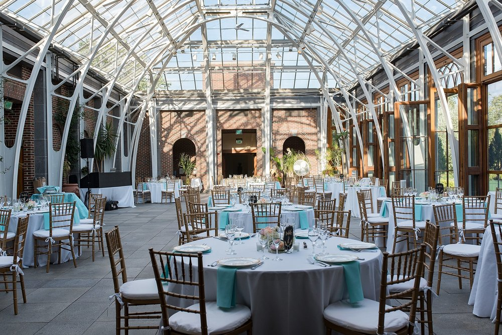 wedding reception at tower hill botanic garden