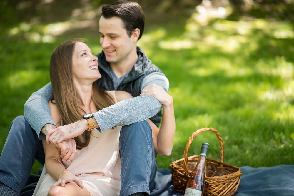 Engagement photos at Larz Anderson park