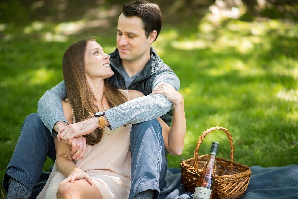 Boston engagement photography picnic