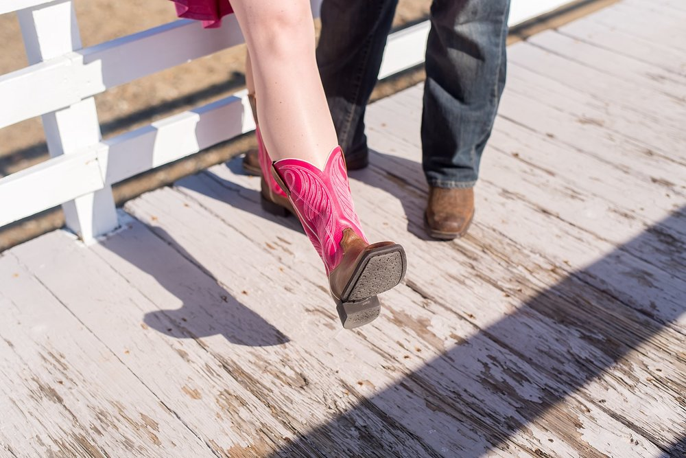 matching cowboy boots at wollaston beach