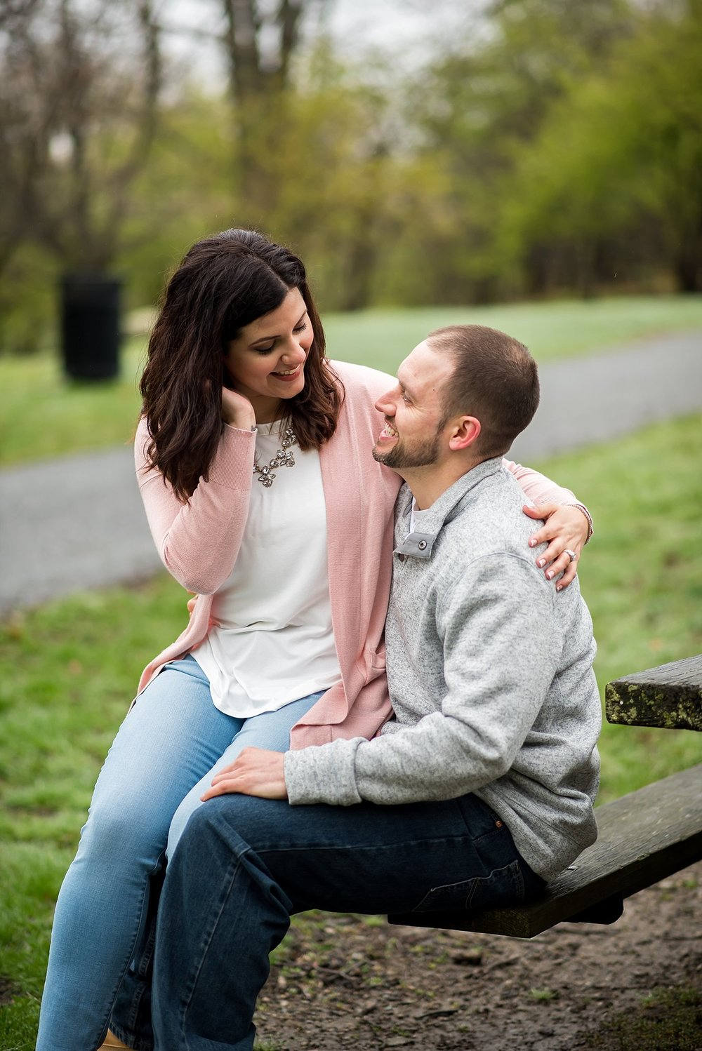 Engagement session in Larz Anderson Park