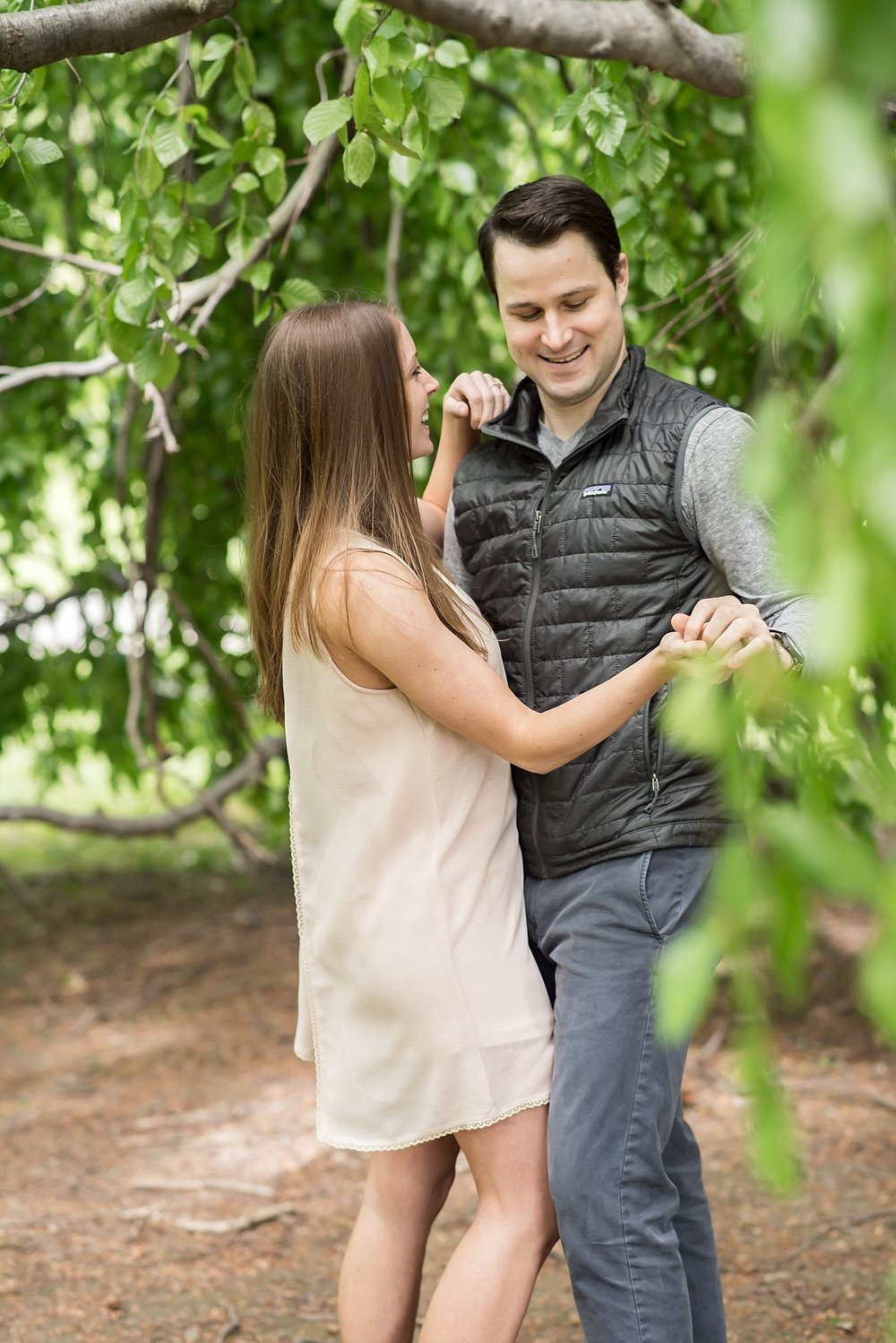 Dancing at Larz Anderson Park Engagement session