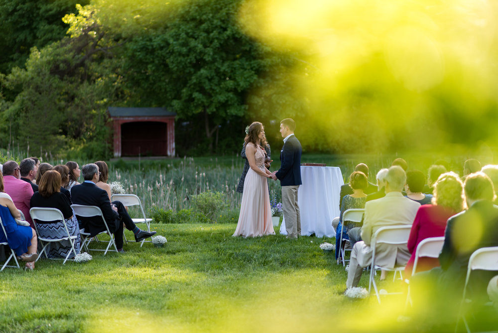 outdoor wedding at the pierce house
